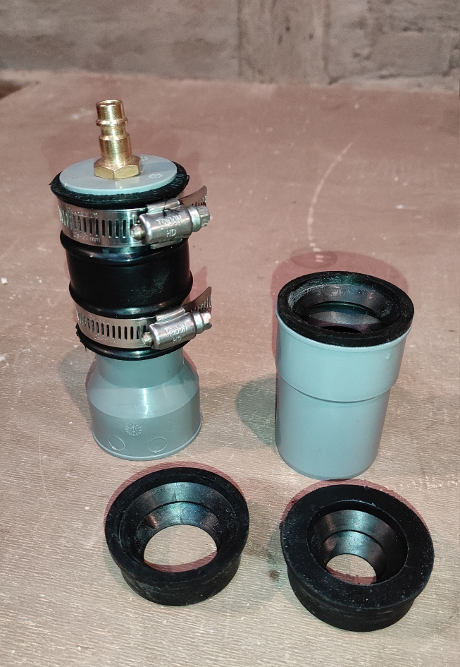 Compressed air adapter